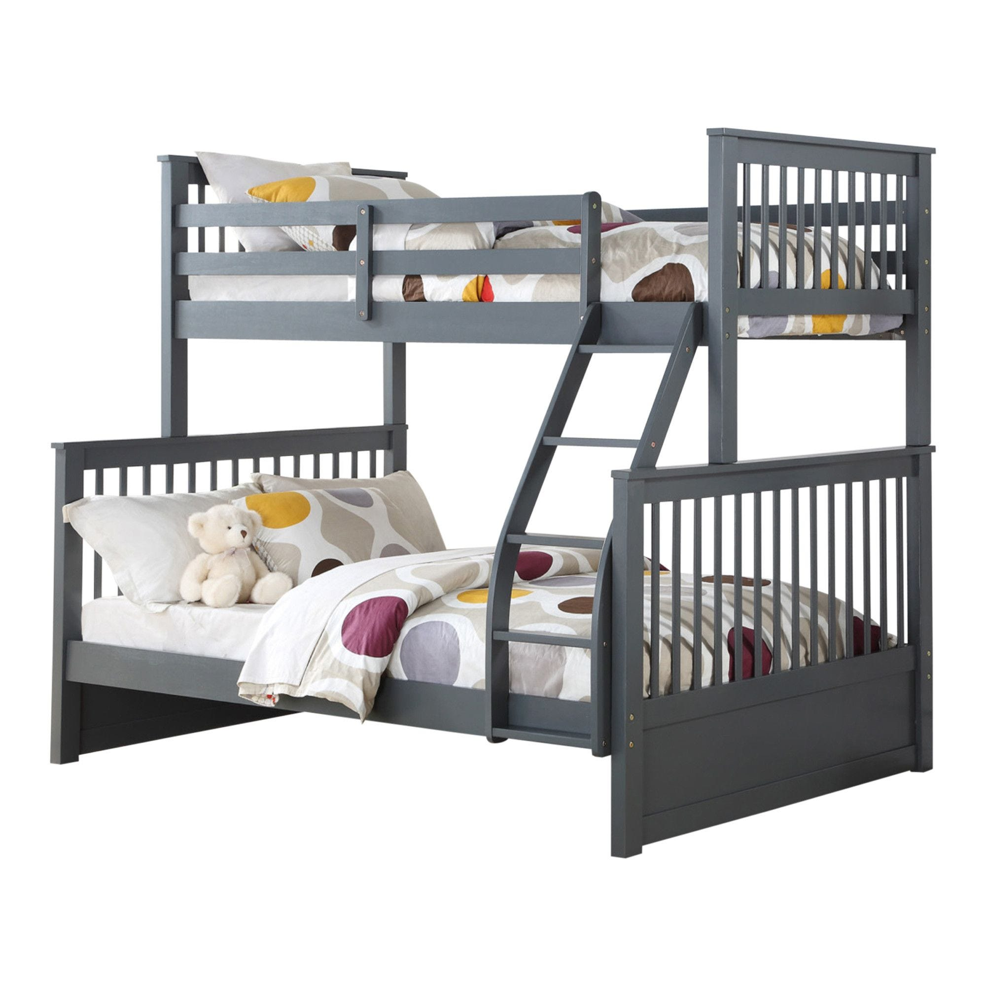 Drew Twin Over Full Bunk Bed Grey Tepperman S