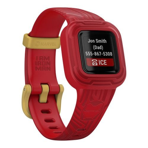GARMIN VIVOFIT JR. 3 KIDS FITNESS TRACKER-IRON MAN 010-02441-31