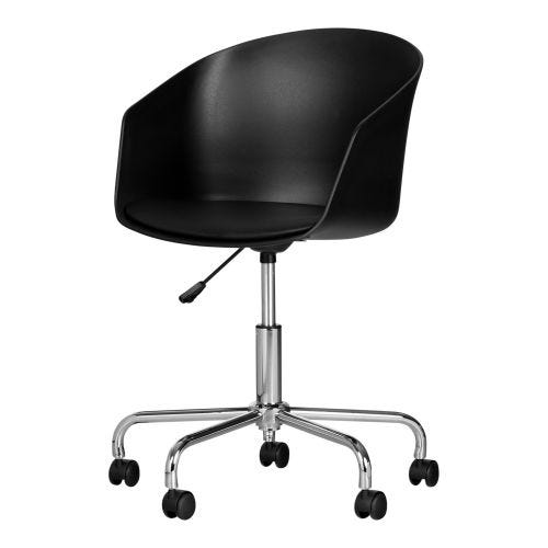 FLAM SWIVEL OFFICE CHAIR - BLCK