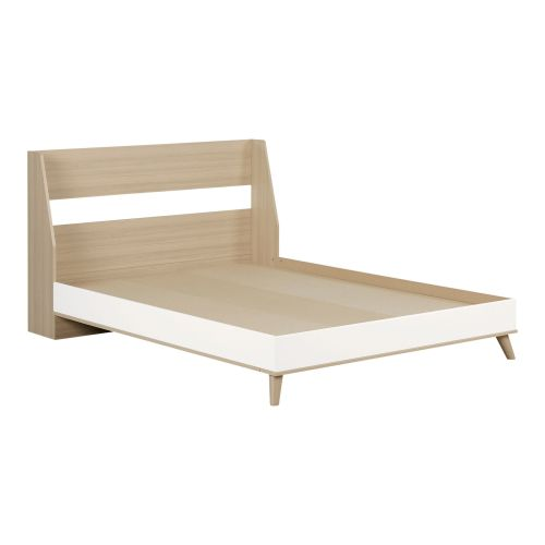 YODI FULL 3 PC BED - WHITE AND SOFT ELM
