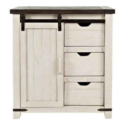 MADISON COUNTY ACCENT CABINET - TWO-TONE
