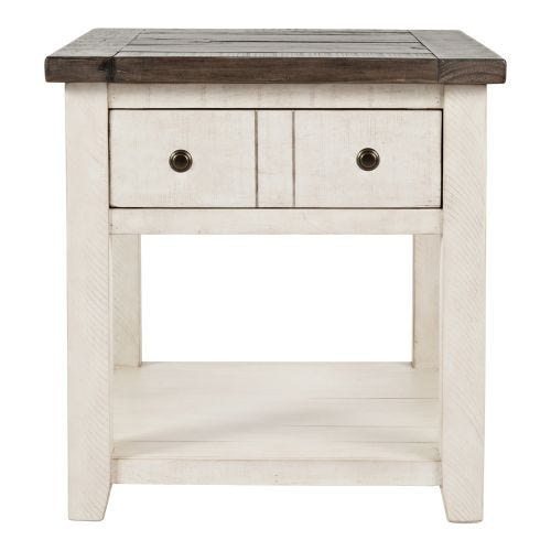 MADISON COUNTY END TABLE - ANTIQUE WHITE