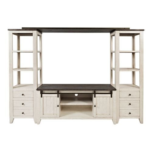 MADISON COUNTY 4 PC WALL UNIT - TWO-TONE