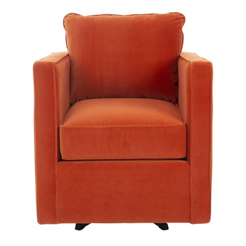 TURNER II TANGERINE SWIVEL ACCENT CHAIR
