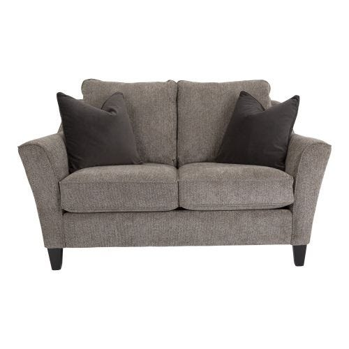 BRIDGER PEWTER LOVESEAT
