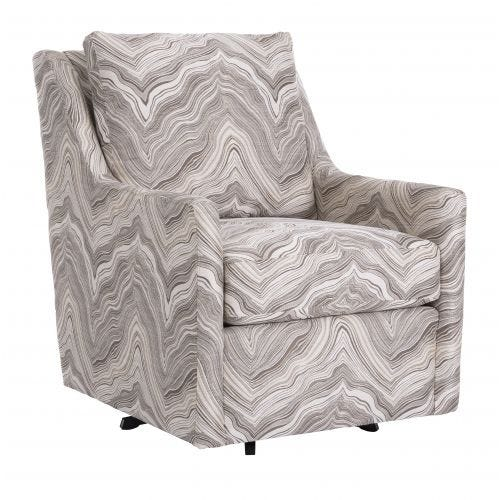 HARRISON THUNDER IVORY SWIVEL ACCENT CHAIR