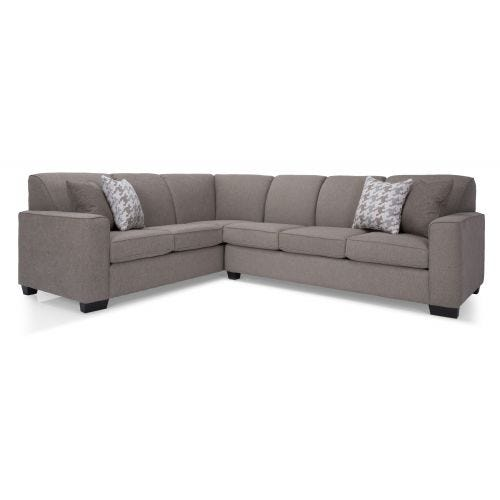 BENTLEY PEWTER 2 PIECE SECTIONAL (16/31)