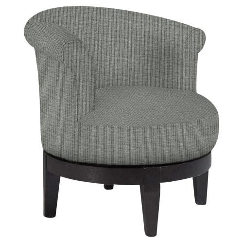 ATTICA EBONY SWIVEL ACCENT CHAIR