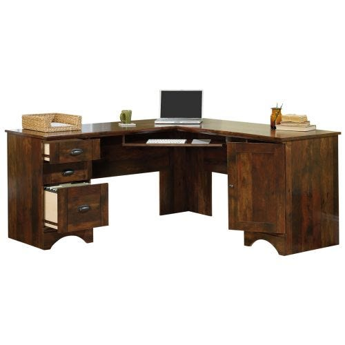 HARBOR VIEW L-SHAPE DESK - CURADO CHERRY