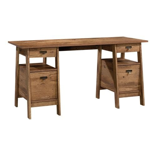 TRESTLE DESK - VINTAGE OAK