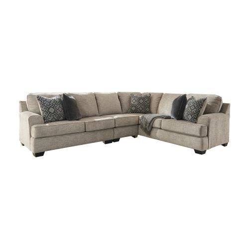 BOVARIAN STONE 3 PIECE SECTIONAL (49/55/46)