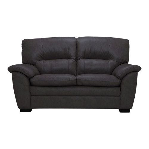 AMISK ANTHRACITE 100% LEATHER SEATING LOVESEAT