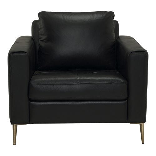 SHERBROOK INK 100% LEATHER SEATING CHAIR
