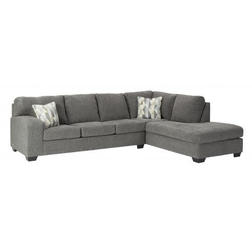 DALHART CHARCOAL 2 PIECE SECTIONAL (66/ 17)
