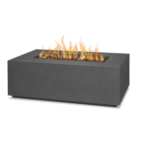 AEGEAN SMALL RECT. FIRETABLE - WEATHERED SLATE