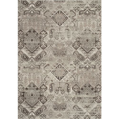 TERRA BEIGE/BROWN AZTEC OUTDOOR AREA RUG 5'3 X 7'7