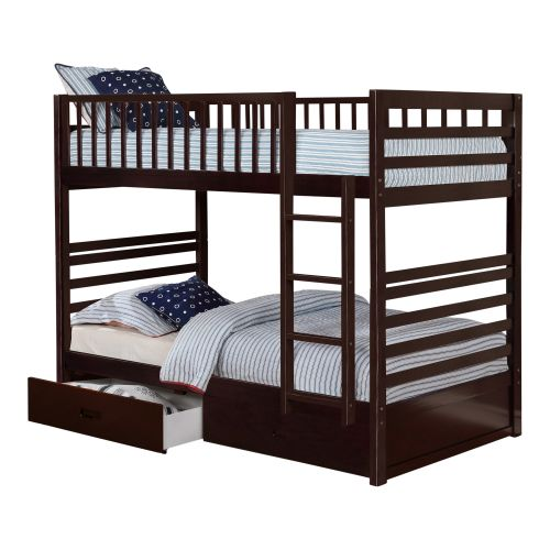 HARDY TWIN OVER TWIN BUNK BED - ESPRESSO