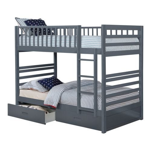 HARDY TWIN OVER TWIN BUNK BED - GREY