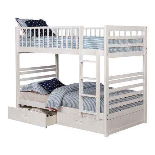 HARDY TWIN OVER TWIN BUNK BED - WHITE