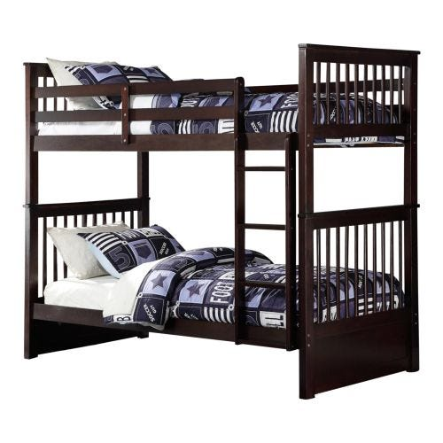 WATTS TWIN OVER TWIN BUNK BED - ESPRESSO