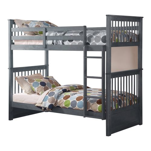 WATTS TWIN OVER TWIN BUNK BED - GREY