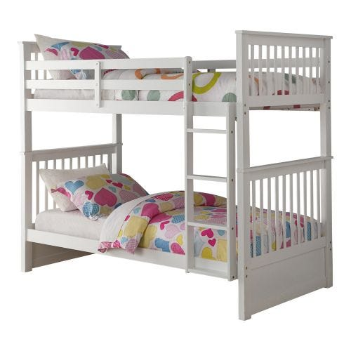 WATTS TWIN OVER TWIN BUNK BED - WHITE