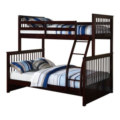 DREW TWIN OVER FULL BUNK BED - ESPRESSO