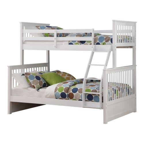 DREW TWIN OVER FULL BUNK BED - WHITE