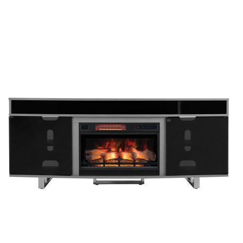 ENTERPRISE ELECTRIC FIREPLACE TV CONSOLE - GREY