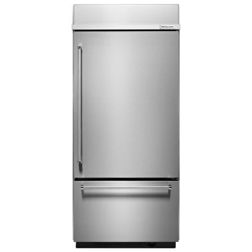 "KitchenAid 20.9 Cu. Ft. 36"" Width Built-In Stainless Bottom Mount Refrigerator CO-KBBR306ESS"