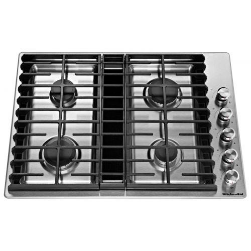 "KitchenAid 30"" 4 Burner Gas Downdraft Cooktop CO-KCGD500GSS"