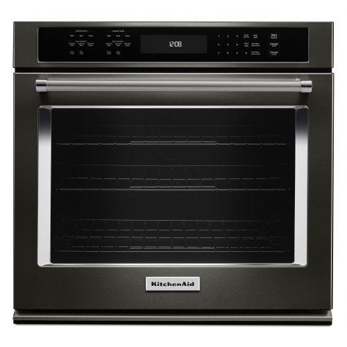 "KitchenAid 27"" Single Wall Oven with Even-Heat True Convection CO-KOSE507EBS"