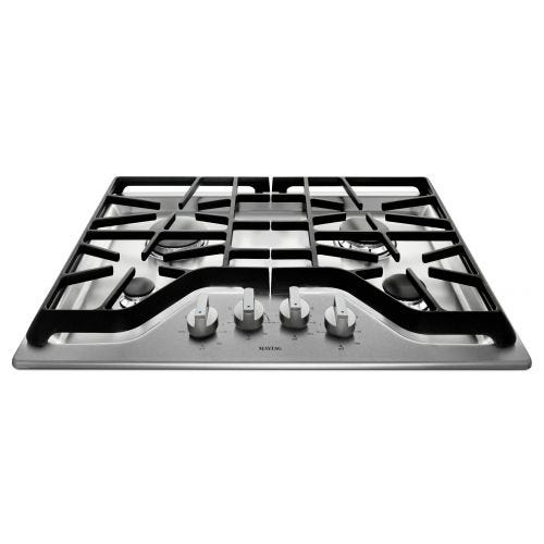 Maytag 30-inch 4-burner Gas Cooktop with Power Burner CO-MGC7430DS