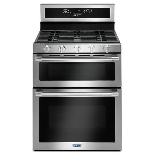 Maytag 30-INCH WIDE DOUBLE OVEN GAS RANGE WITH TRUE CONVECTION - 6.0 CU. FT. CO-MGT8800FZ