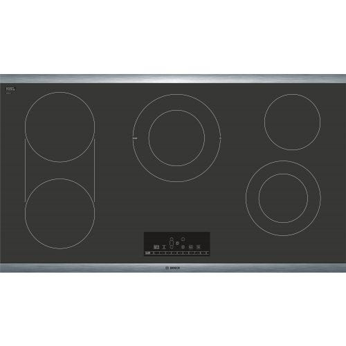 "Bosch 36"" Electric Cooktop, 800 Series - Black with Stainless Steel Frame CO-NET8668SUC"