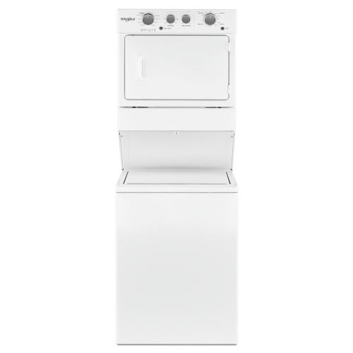Whirlpool 4.0 cu.ft I.E.C. Gas Stacked Laundry Center 9 Wash cycles and AutoDry CO-WGT4027HW