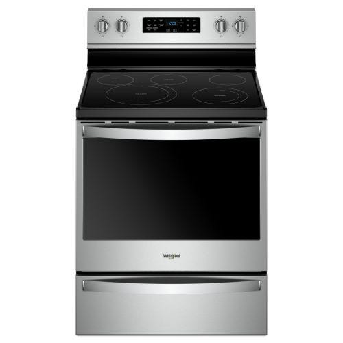 Whirlpool 30-inch, 6.4 cu ft, Electric Freestanding Range with 5 Elements CO-YWFE775H0HZ