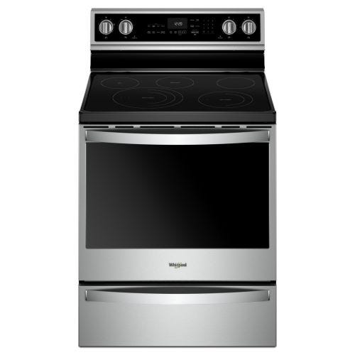 Whirlpool 30-inch,6.4 cu ft, Electric Freestanding Range with 5 Elements CO-YWFE975H0HZ