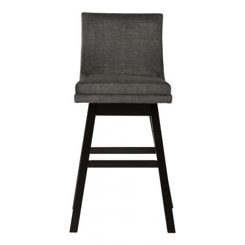 "TALLENGER 30"" SWIVEL STOOL - DARK GREY"