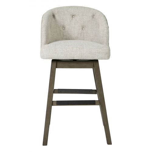 "TRIPTON 30"" SWIVEL STOOL - LINEN"