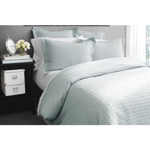 DOVER 3 PC KING DUVET COVER SET (COTTON WAFFLE)