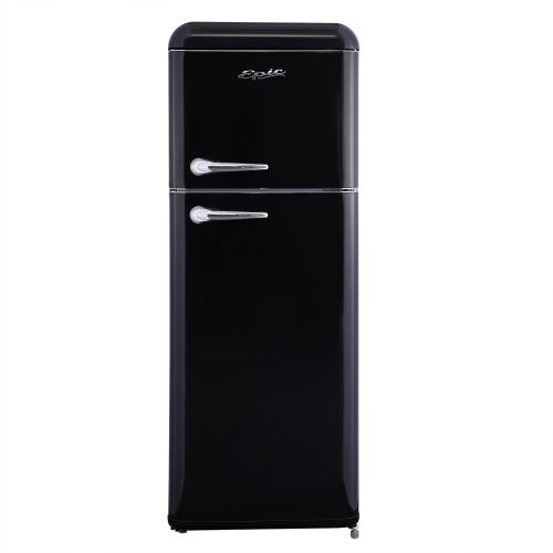 Epic BLACK 7.5 CUFT RETRO TOP FREEZER REFRIGERATOR ERR82BL