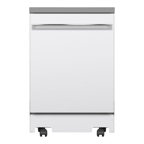 "GE ESR 24"" PORTABLE DISHWASHER W/ STAINLESS STEEL TUB GPT225SGLWW"