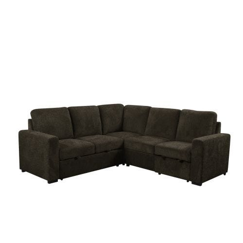 HADLEY CHOCOLATE 3 PIECE POP-UP SECTIONAL BED