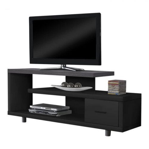OPEN CONCEPT TV STAND - BLACK & GREY