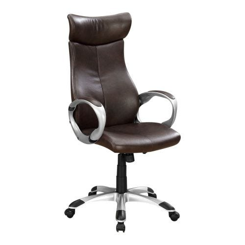 ROLAND LEATHER-LOOK OFFICE CHAIR - BROWN