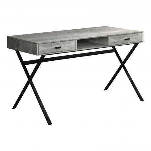 DESK - GREY RECLAIMED WOOD-LOOK