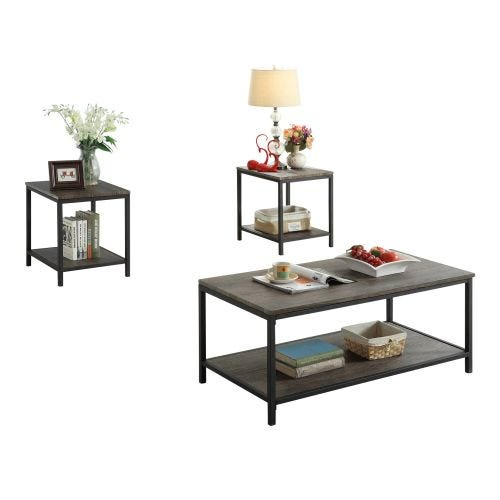 BOHDI COFFEE TABLE AND TWO END TABLES