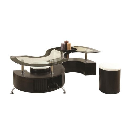 PASHA COFFEE TABLE W/TWO STOOLS