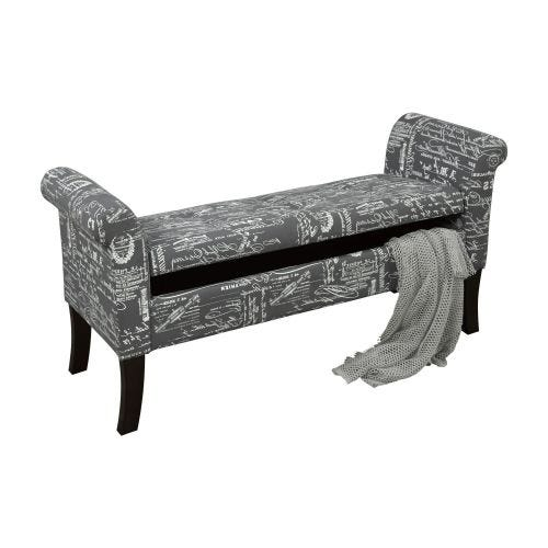 BEXLEY STORAGE BENCH - GREY SCRIPT